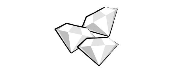 5 pietrine oggetto rotto